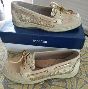 Sperry women's sequin deck shoes